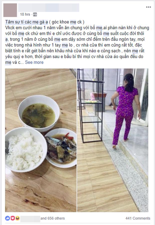 Nàng dâu khoe mẹ chồng quốc dân: Đuổi ra ở riêng nhưng vẫn lo từ A- Z, nấu cơm bưng sang tận nhà cho con dâu - Ảnh 1.