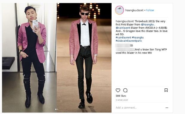 Chuyện chiếc blazer hồng: G-Dragon mặc từ 4 năm trước, Sơn Tùng M-TP diện trong MV mới toanh, Hoàng Ku vội rao bán ngay sau đó - Ảnh 7.