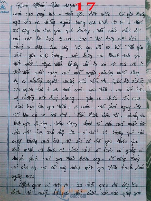 Bài văn 9,5 điểm về tình cảm gia đình khiến cô giáo phải thốt lên: Mọi ngôn từ đều trở nên bất lực! - Ảnh 17.