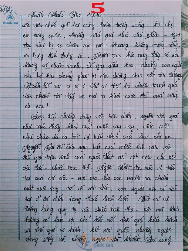 Bài văn 9,5 điểm về tình cảm gia đình khiến cô giáo phải thốt lên: Mọi ngôn từ đều trở nên bất lực! - Ảnh 5.