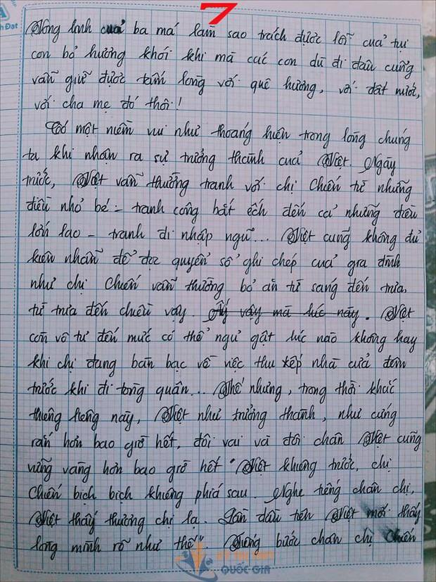 Bài văn 9,5 điểm về tình cảm gia đình khiến cô giáo phải thốt lên: Mọi ngôn từ đều trở nên bất lực! - Ảnh 7.