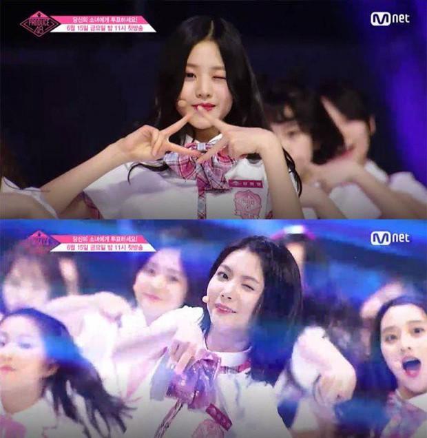 Bắt chước Park Ji Hoon, các cô gái Produce 48 cũng thi nhau nháy mắt lia lịa - Ảnh 2.