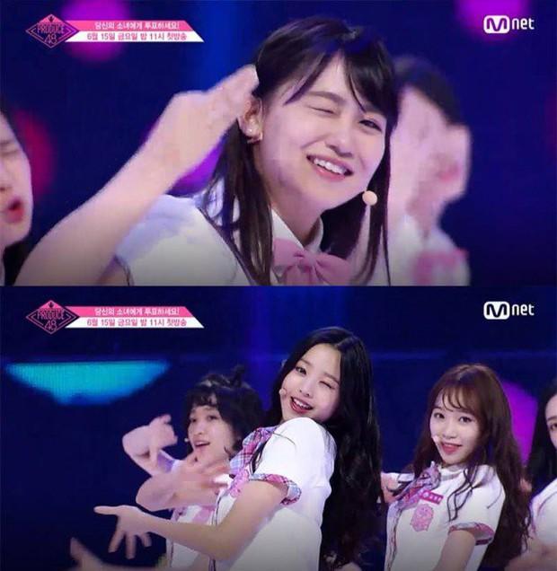 Bắt chước Park Ji Hoon, các cô gái Produce 48 cũng thi nhau nháy mắt lia lịa - Ảnh 3.