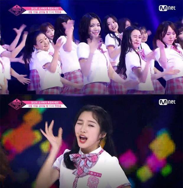 Bắt chước Park Ji Hoon, các cô gái Produce 48 cũng thi nhau nháy mắt lia lịa - Ảnh 4.