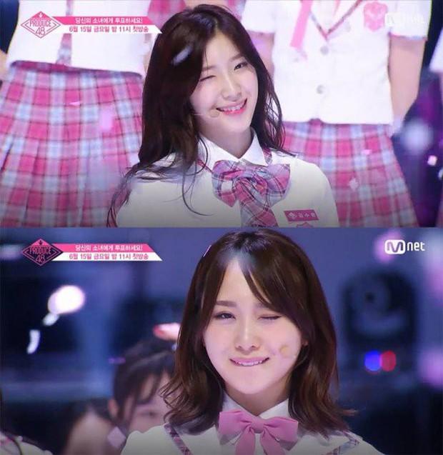 Bắt chước Park Ji Hoon, các cô gái Produce 48 cũng thi nhau nháy mắt lia lịa - Ảnh 6.