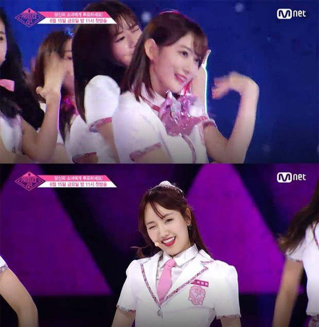 Bắt chước Park Ji Hoon, các cô gái Produce 48 cũng thi nhau nháy mắt lia lịa - Ảnh 7.