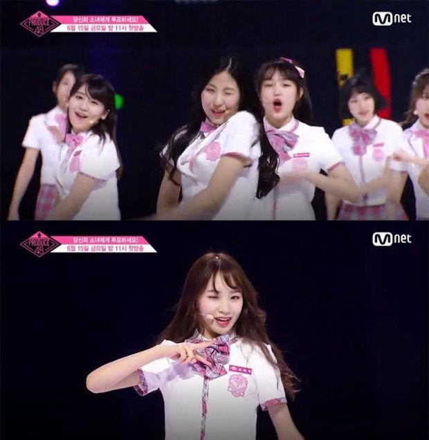 Bắt chước Park Ji Hoon, các cô gái Produce 48 cũng thi nhau nháy mắt lia lịa - Ảnh 8.