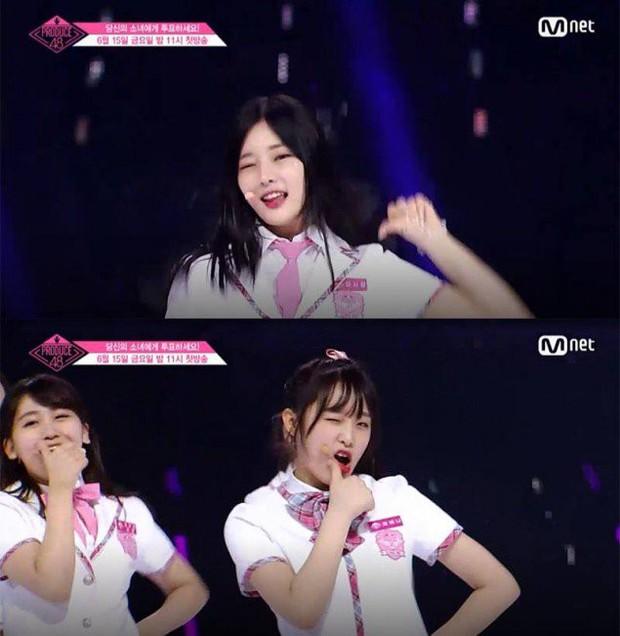 Bắt chước Park Ji Hoon, các cô gái Produce 48 cũng thi nhau nháy mắt lia lịa - Ảnh 9.