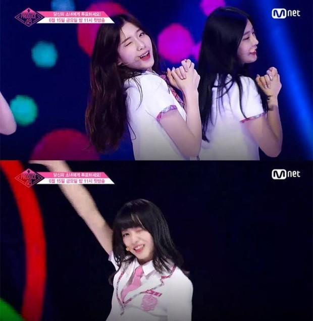 Bắt chước Park Ji Hoon, các cô gái Produce 48 cũng thi nhau nháy mắt lia lịa - Ảnh 10.
