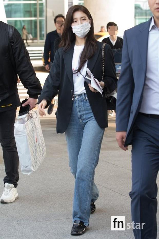 3 sao nữ hạng A xứ Hàn đổ bộ sân bay: Suzy diện đồ thùng thình vẫn đẹp là thế, Yuri lại xuống sắc già nua khó tin - Ảnh 1.
