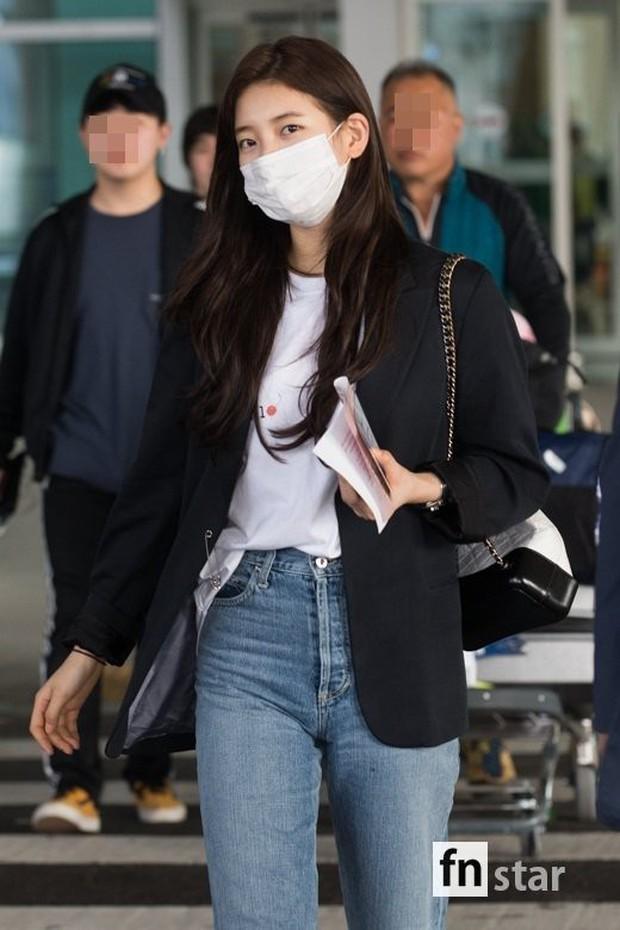 3 sao nữ hạng A xứ Hàn đổ bộ sân bay: Suzy diện đồ thùng thình vẫn đẹp là thế, Yuri lại xuống sắc già nua khó tin - Ảnh 4.