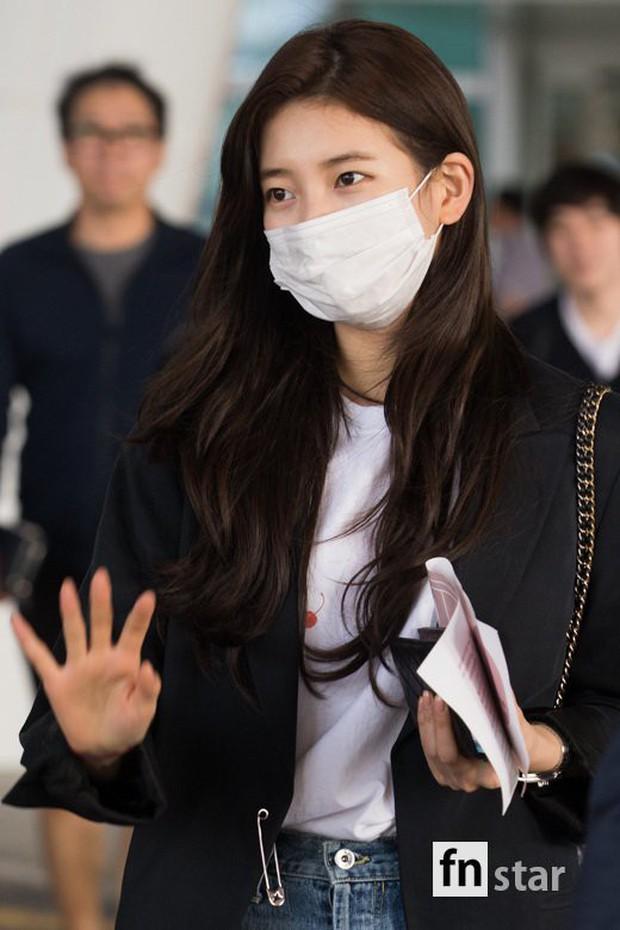 3 sao nữ hạng A xứ Hàn đổ bộ sân bay: Suzy diện đồ thùng thình vẫn đẹp là thế, Yuri lại xuống sắc già nua khó tin - Ảnh 6.