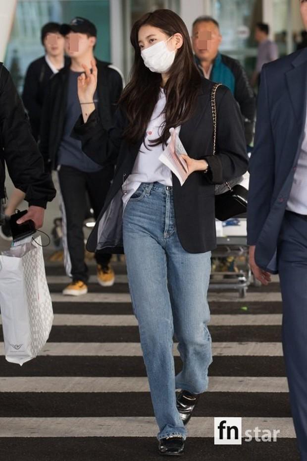 3 sao nữ hạng A xứ Hàn đổ bộ sân bay: Suzy diện đồ thùng thình vẫn đẹp là thế, Yuri lại xuống sắc già nua khó tin - Ảnh 2.