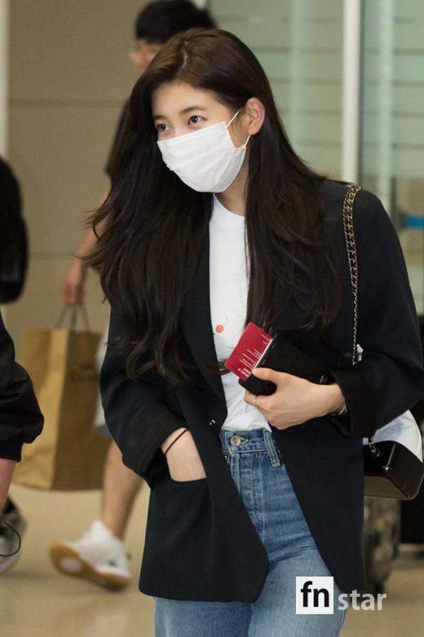 3 sao nữ hạng A xứ Hàn đổ bộ sân bay: Suzy diện đồ thùng thình vẫn đẹp là thế, Yuri lại xuống sắc già nua khó tin - Ảnh 5.