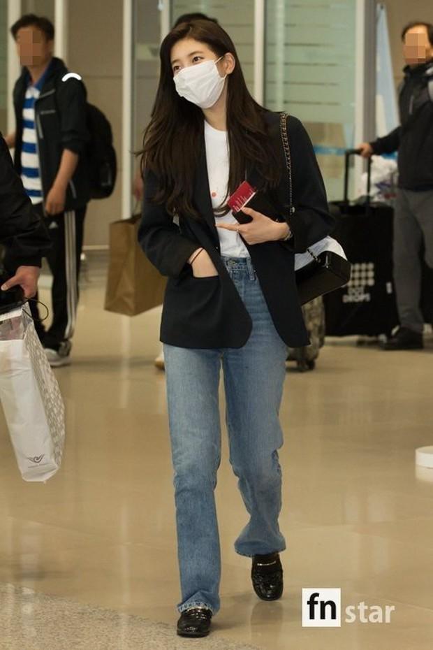 3 sao nữ hạng A xứ Hàn đổ bộ sân bay: Suzy diện đồ thùng thình vẫn đẹp là thế, Yuri lại xuống sắc già nua khó tin - Ảnh 3.