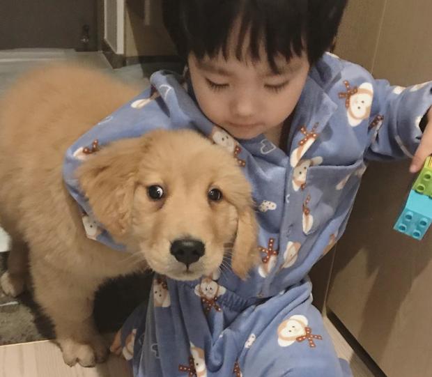 Tình bạn đẹp như mơ, đôi lúc giận hờn vu vơ của nhóc tì Hàn Quốc với chú chó cưng đốn tim dân mạng - Ảnh 8.