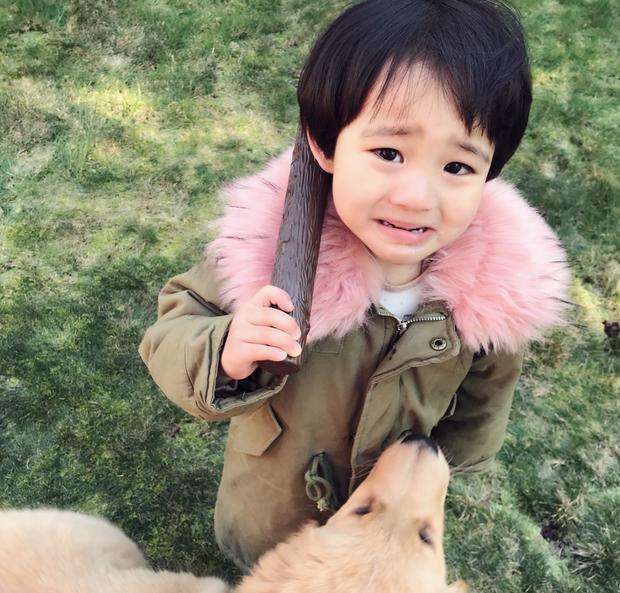 Tình bạn đẹp như mơ, đôi lúc giận hờn vu vơ của nhóc tì Hàn Quốc với chú chó cưng đốn tim dân mạng - Ảnh 2.