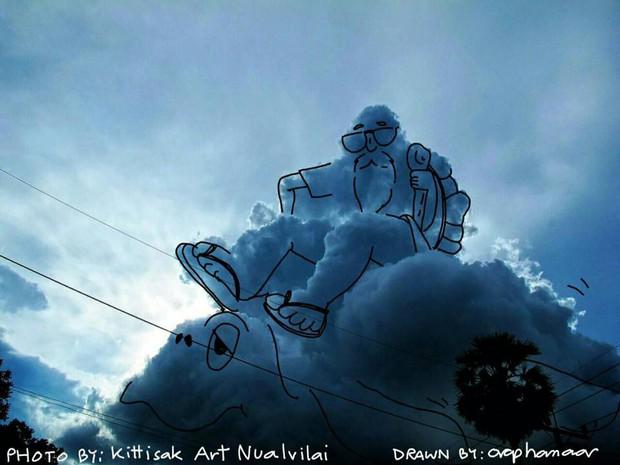 Danh tính tác giả của những bức vẽ đám mây cực dễ thương đang gây sốt MXH - Ảnh 15.