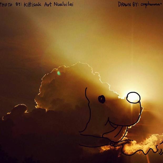 Danh tính tác giả của những bức vẽ đám mây cực dễ thương đang gây sốt MXH - Ảnh 14.