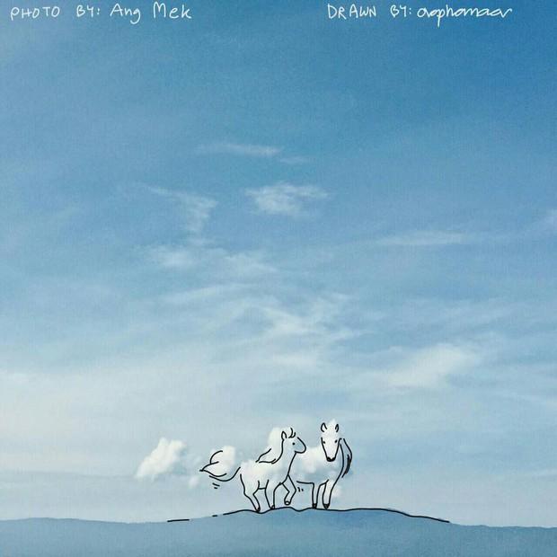 Danh tính tác giả của những bức vẽ đám mây cực dễ thương đang gây sốt MXH - Ảnh 7.