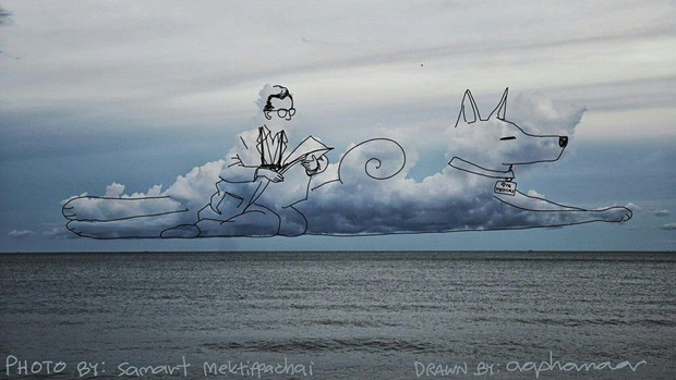 Danh tính tác giả của những bức vẽ đám mây cực dễ thương đang gây sốt MXH - Ảnh 9.