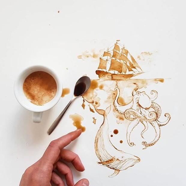 Ngắm những tác phẩm tuyệt đẹp từ trà và cà phê - Ảnh 1.