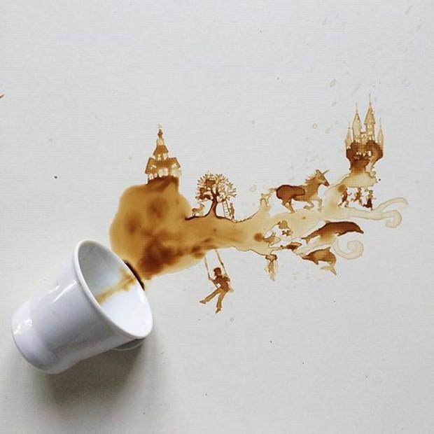 Ngắm những tác phẩm tuyệt đẹp từ trà và cà phê - Ảnh 11.