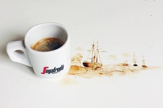Ngắm những tác phẩm tuyệt đẹp từ trà và cà phê - Ảnh 13.