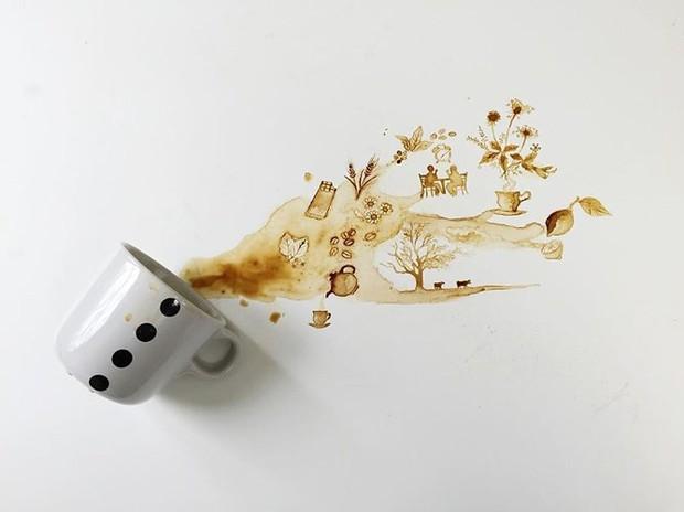 Ngắm những tác phẩm tuyệt đẹp từ trà và cà phê - Ảnh 14.