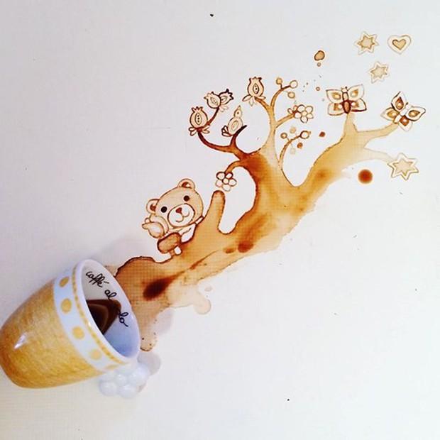 Ngắm những tác phẩm tuyệt đẹp từ trà và cà phê - Ảnh 15.