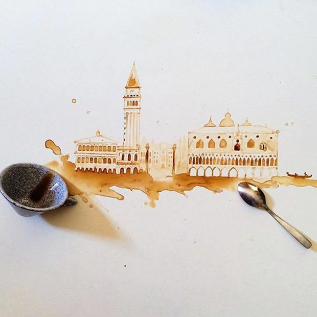Ngắm những tác phẩm tuyệt đẹp từ trà và cà phê - Ảnh 16.