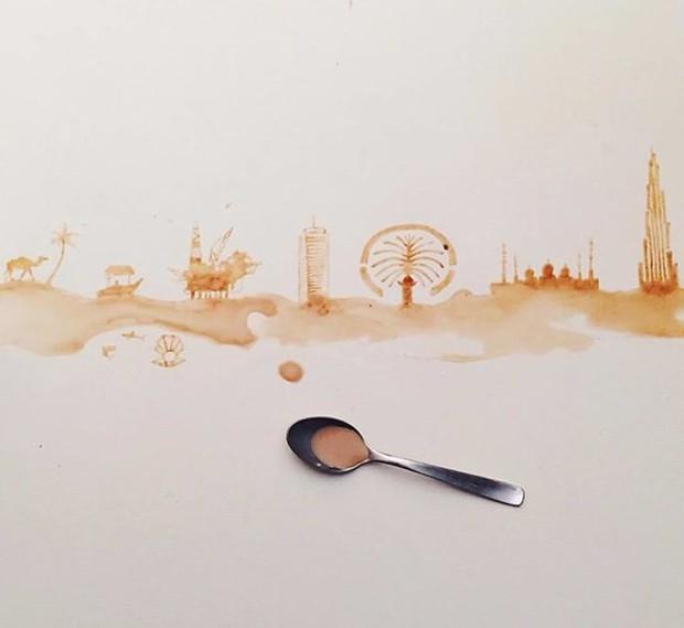 Ngắm những tác phẩm tuyệt đẹp từ trà và cà phê - Ảnh 19.