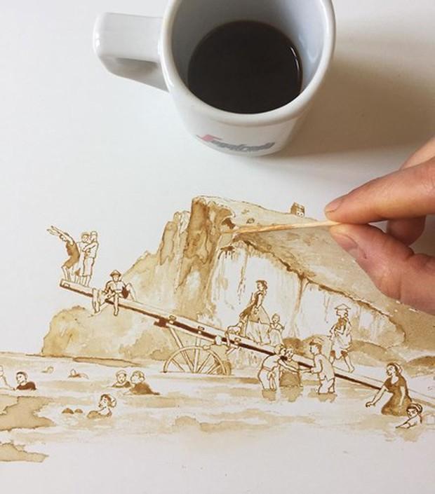 Ngắm những tác phẩm tuyệt đẹp từ trà và cà phê - Ảnh 3.