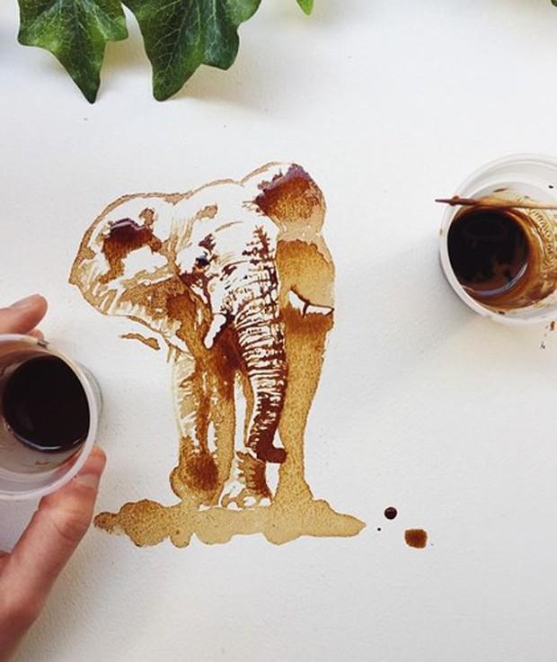 Ngắm những tác phẩm tuyệt đẹp từ trà và cà phê - Ảnh 5.
