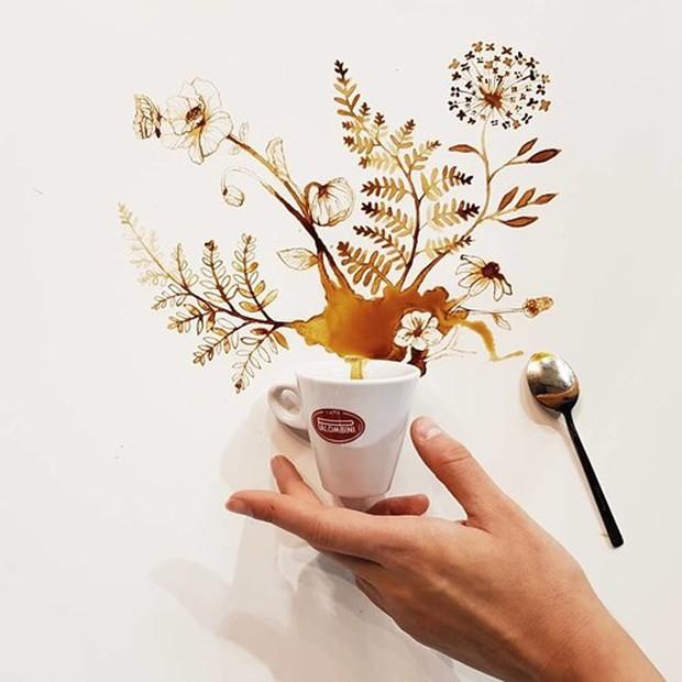 Ngắm những tác phẩm tuyệt đẹp từ trà và cà phê - Ảnh 6.