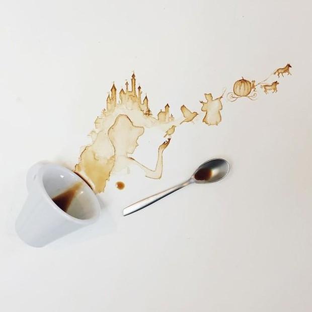 Ngắm những tác phẩm tuyệt đẹp từ trà và cà phê - Ảnh 7.
