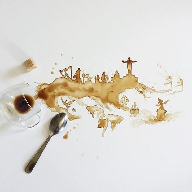 Ngắm những tác phẩm tuyệt đẹp từ trà và cà phê - Ảnh 8.