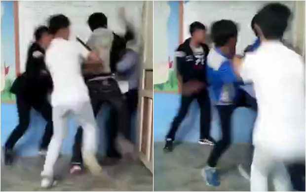 Trung Quốc: Học sinh đánh thầy giáo tới tấp ngay giữa lớp, bạn học ngồi dưới thản nhiên quay clip - Ảnh 2.