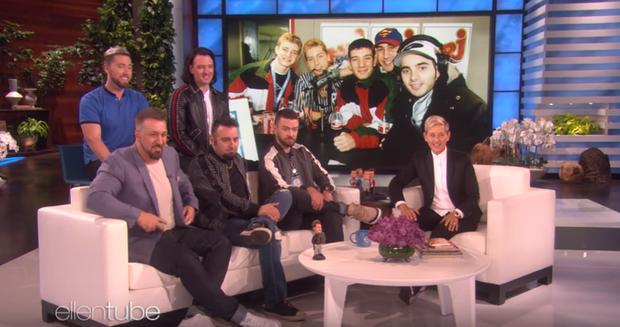 Bất ngờ với ngoại hình của *NSYNC trong ngày tái hợp trên talkshow của Ellen DeGeneres - Ảnh 5.