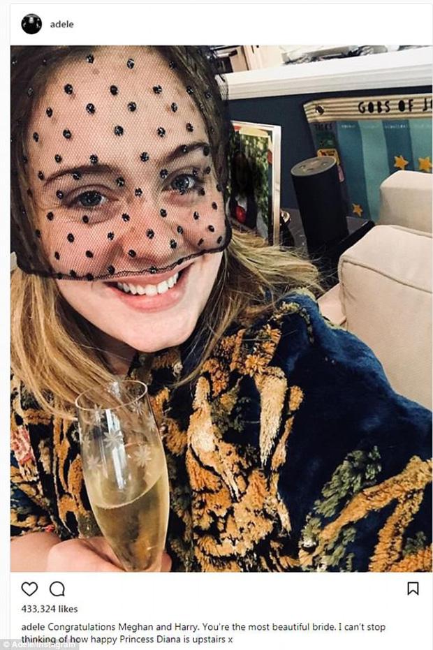 Kim Kardashian, Adele cùng loạt sao bày tỏ sự ngưỡng mộ đám cưới Hoàng tử Harry - Ảnh 1.