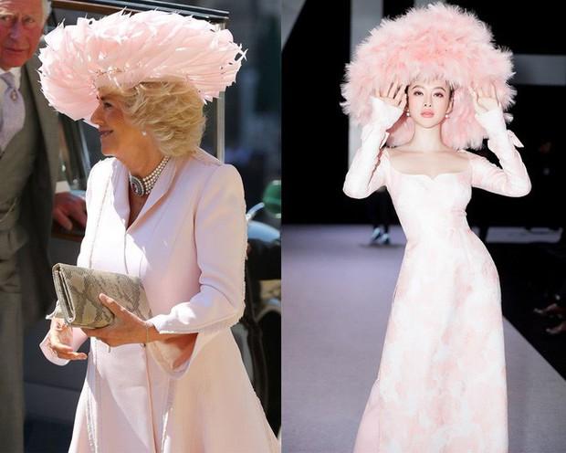 Mặc nguyên một cây hồng với mũ lông, nhìn nữ công tước này mà nghĩ ngay đến cô nàng lắm chiêu Angela Phương Trinh  - Ảnh 8.