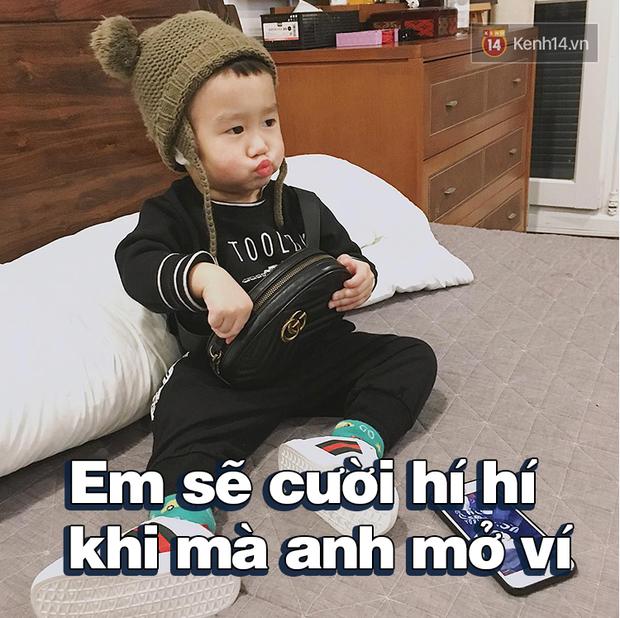 Nhật ký sắp 2 tuổi bằng meme đầy khí chất của Nguyễn Tùng Xoài - con trai Trang Lou và Tùng Sơn - Ảnh 9.