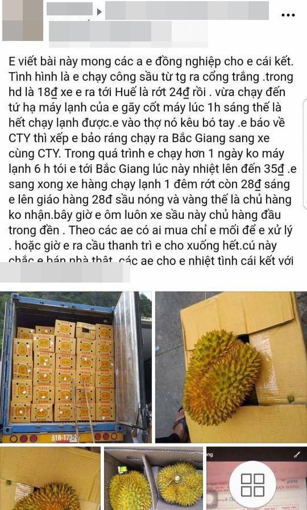 Bỏ tiền giải cứu 17 tấn sầu riêng giữa trưa hè Hà Nội, người mua thất vọng với chất lượng thực tế: Tài xế lên tiếng - Ảnh 1.