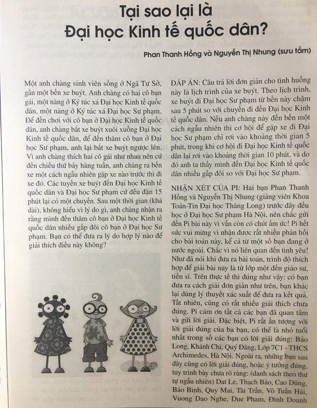 Bài toán kỳ lạ về chàng sinh viên có 2 cô bạn gái trên tạp chí của giáo sư Ngô Bảo Châu khiến dân mạng lú lẫn - Ảnh 3.