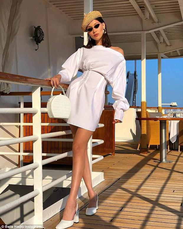 Bella Hadid khoe body gợi cảm hút mắt dù bị chụp ảnh lén và chưa được photoshop - Ảnh 5.