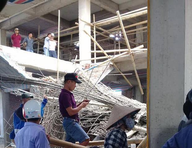 Sập giàn giáo công trình xây dựng siêu thị của 1 đại gia Nam Định, 2 người thương vong - Ảnh 2.