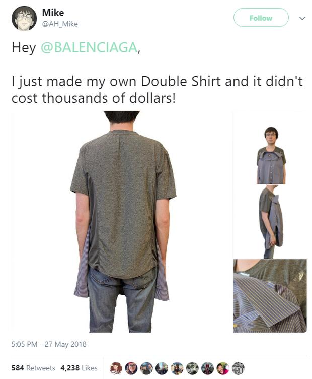Balenciaga vừa ra chiếc áo sơ mi phông giá gần 30 triệu VNĐ và cư dân mạng được phen cười như được mùa - Ảnh 4.