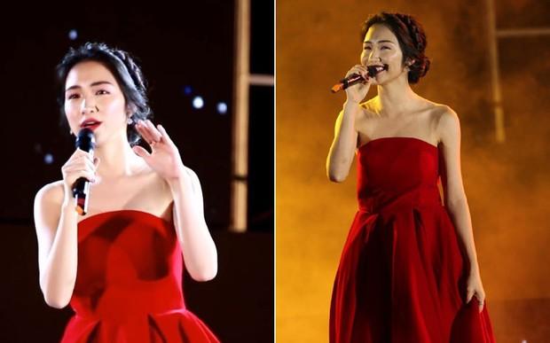 """Mặc lại váy cũ, Hòa Minzy """"đụng hàng"""" bất phân thắng bại với Nhã Phương - Ảnh 2."""