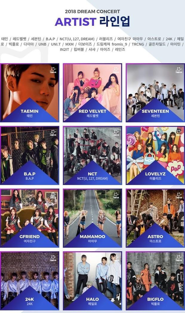 Dàn nghệ sỹ Kpop biểu diễn tại Dream Concert năm nay chán đời đến mức huyền thoại? - Ảnh 1.