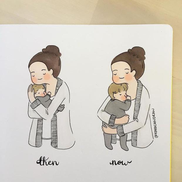 Bộ tranh phản ánh cuộc sống khi ở nhà chăm con của bà mẹ trẻ và nhóc tỳ 2 tuổi - Ảnh 1.